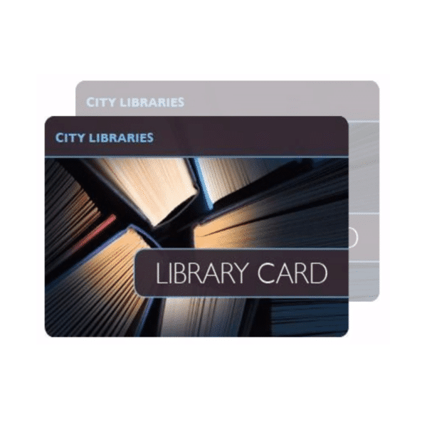 Double sided library card