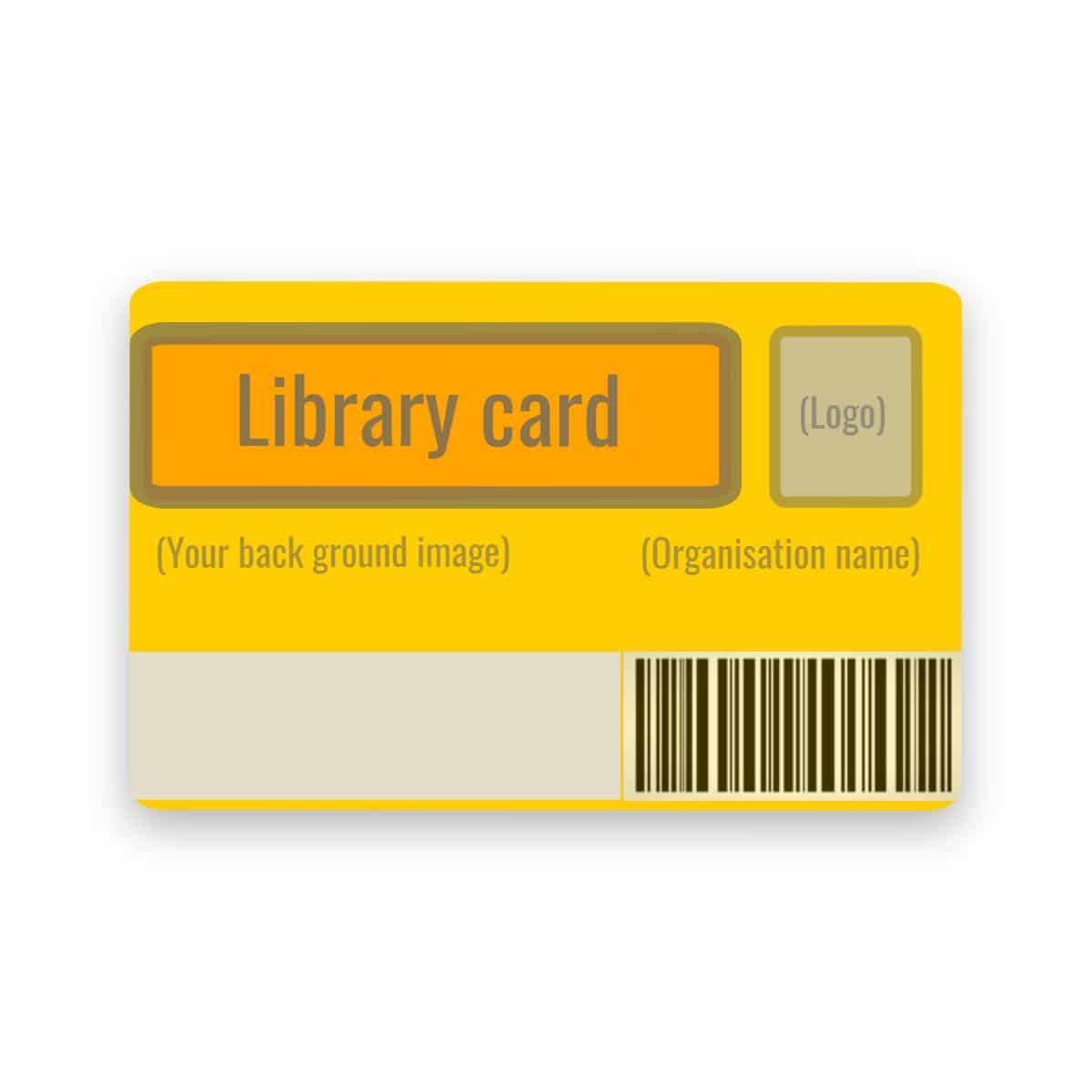 Single-sided library card