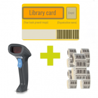 Big Value Pack with Syble barcode scanner, 500 library cards, 5000 labels