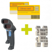 Jumbo deal with 2x Syble scanners, 1000 library cards and 5000 barcode labels