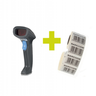 Starter pack with Syble scanner and 1000 barcode labels